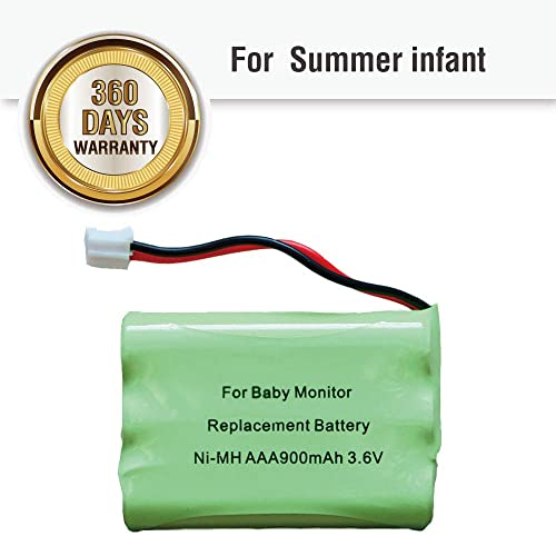 for Summer Infant Baby Monitor Replacement Battery for Summer Infant Wide View 29000 29000A /& Clear Sight 29040 29030 Parent Handheld 3.6V 800mA