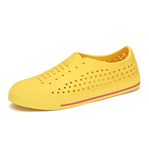 SAGUARO Boys Girls Kids Sneakers Slip-On Garden Clogs Outdoor Sandals River Water Shoes White 3.5