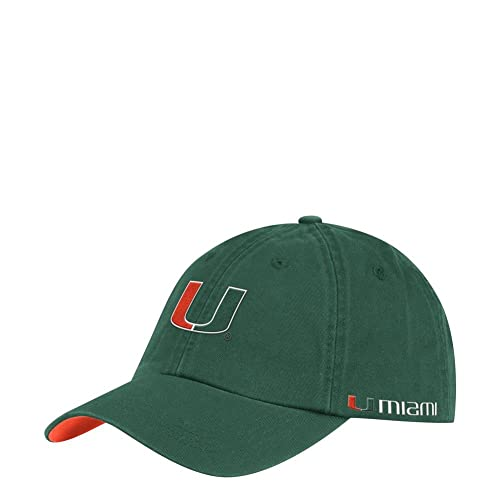 Team Color Adjustable NCAA Zephyr Miami Hurricanes Mens Freeway Relaxed Hat