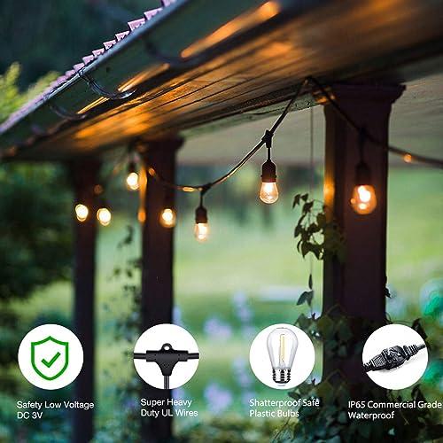 Waterproof Pergola Lights 48ft Led Outdoor String Light