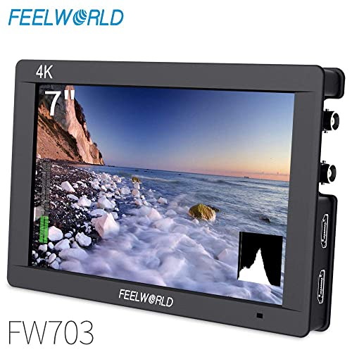 4K On-Camera Monitor/ Full HD 1920x1200 Pixels 7 IPS / Screen Video Display,7 4K HDMI Aluminum Metal Frame Video Monitor/ for Camera//Video w//Mini /& Micro HDMI Cable FEELWORLD/ T7/ +Case+Battery+Charger