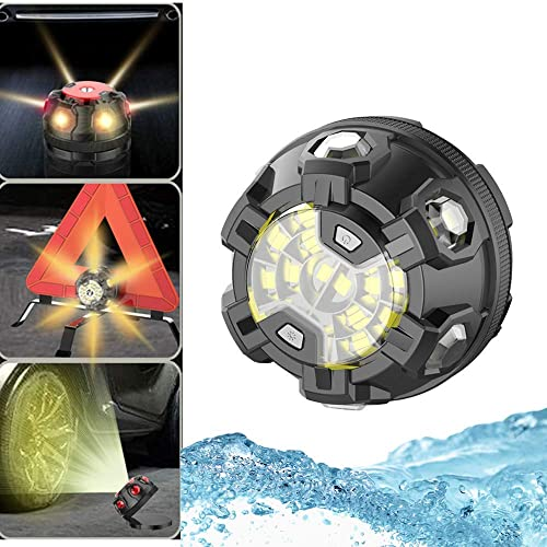 Roadside Safety LED Road Flares,Flashing Warning Light Safety Emergency with Magnetic Base for Car Motorcycle Bikes Truck Boat Chapter Seven Emergency Light