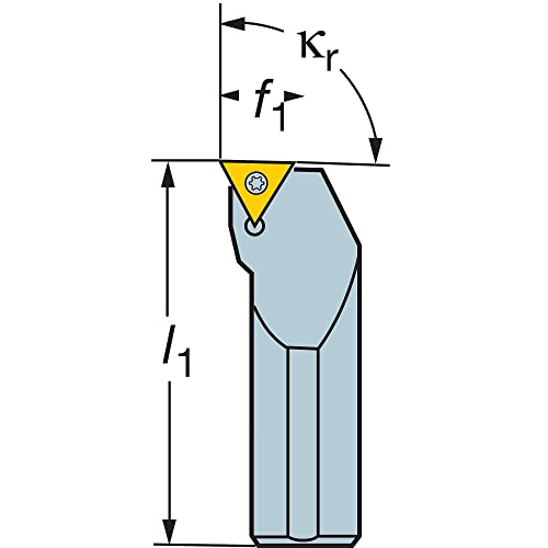 Steel 100mm Length x 20mm Width 16mm Width x 16mm Height Shank VBMT 2 External 1 Insert Size Screw Clamp Square Shank Left Hand Pack of 1 1.5 Sandvik Coromant SVJBL 1616H 11 Turning Insert Holder