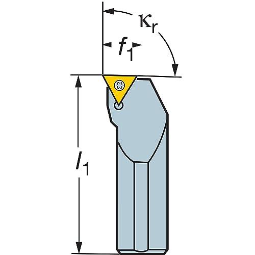 1 Insert Size External Left Hand Steel 100mm Length x 20mm Width Screw Clamp Sandvik Coromant SDJCL 1616H 07 Turning Insert Holder DCMT 2 Square Shank 16mm Width x 16mm Height Shank 1.5