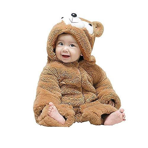 Unisex Baby Romper Infant Onesie 3D Animal Jumpsuit Halloween Costume Winter Snowsuit Hoodie Outfit Bunting