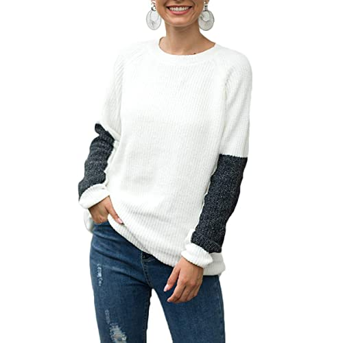 Women/'s V Neck Long Sleeve Wrap Sweater Loose Casual Waffle Knit Pullover Tops