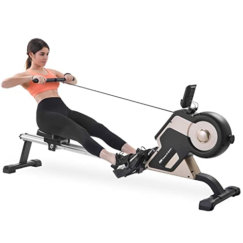 Doufit Rowing Machines for Home Use Foldable Transport Wheels LCD Monitor /& 8 Resistance Settings RM-01 Magnetic Row Machine Exercise Equipment with Aluminum Rail