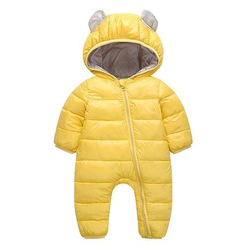 Happy Cherry Girls Cotton Coat Ruffled Pockets Cuffs Winter Warm Snowsuit