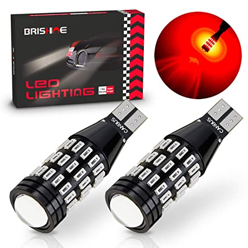 Pack of 2 3rd Brake Lights with Projector replacement High Mount Stop Lights Super Bright AUXLIGHT 921 912 906 904 T15 W16W LED Bulbs 57SMD Chipsets Back Up Reverse Lights 6000K Xenon White