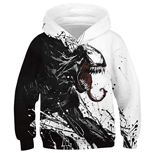 Chaos World Boys Hoodie Realistic 3D Print Sweatshirt Kids Long Sleeve Pocket Casual Pullover