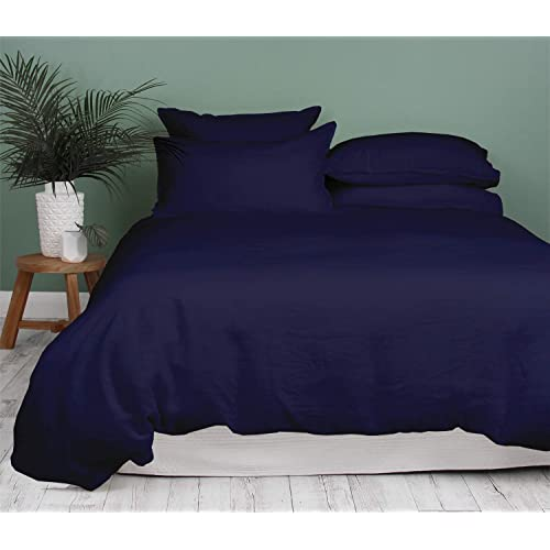 Breathable with Hidden Zipper Closure for Your Down Comforter. Silky Soft 100/% Long Staple Egyptian Cotton Quilt Cover King//Cal King Size Mayfair Linen 800 Thread Count White King Duvet Cover Set