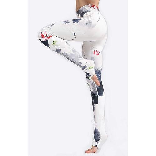 Warmht Printed Women Yoga Leggings High Waist Tummy Control Over The Heel Yoga Pants