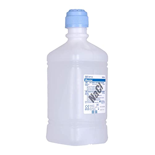 Buy Baxter Nacl 0 9 Sodium Chloride Saline For Irrigation One Litre 1000ml Pack Of 6 Bottles Online In Maldives B00wjz1mme