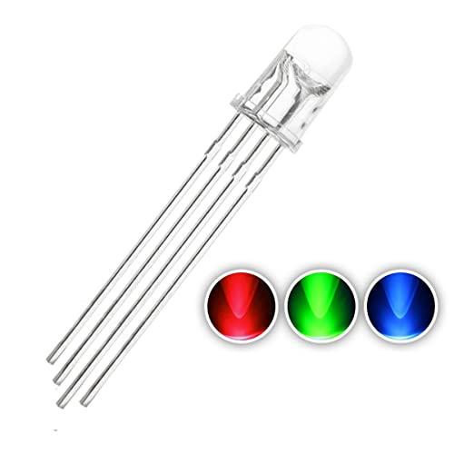 uxcell 50pcs 3mm Red LED Diode Lights Clear Round Transparent 1.8-2V 20mA Super Bright Lighting Bulb Lamps Electronics Components Light Emitting Diodes