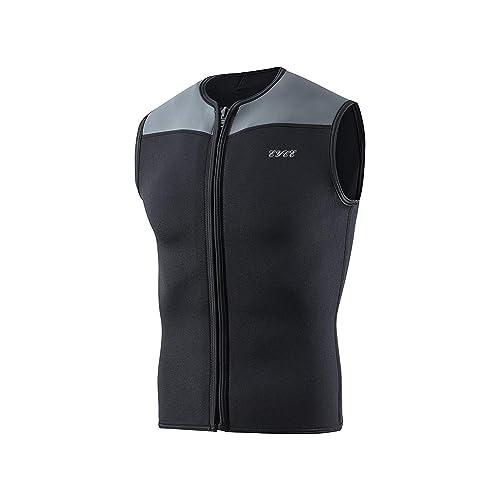 EYCE Dive /& SAIL Mens Wetsuits Top Premium Neoprene 3mm Zipper Diving Vest