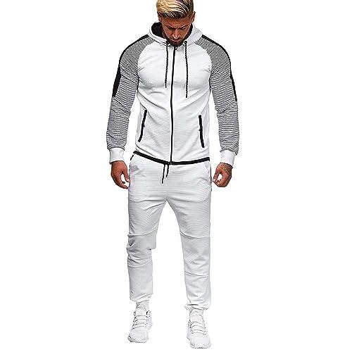 MaxTide Mens Athletic Tracksuit Full Zip Warm Jogging Sweat Suits