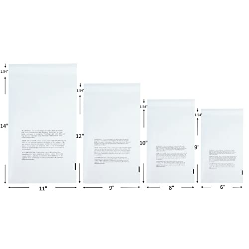 Fit for A4 Paper T-shirts Newspapers AlphaAcc 100pcs 9 x 12 Inch Clear Poly Bags Bulk Adhesive Self Seal Flap Easy Peel and Stick Clear Bags 2 Mil