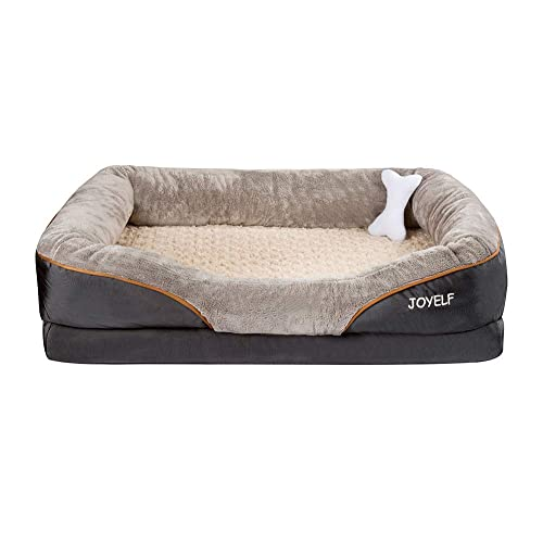 Buy Joyelf Large Memory Foam Dog Bed Orthopedic Dog Bed Sofa With Removable Washable Cover And Squeaker Toy As Gift Online In Maldives B06xq492n8