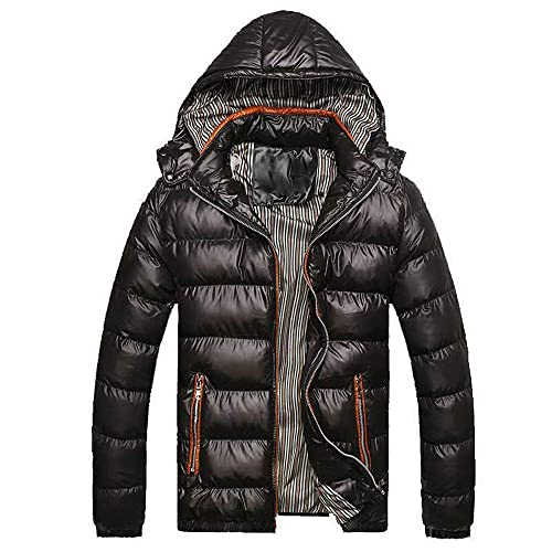 019555895 Buy WOCACHI Mens Down Jackets Puffer Coat Detachable Hooded Thicken ...