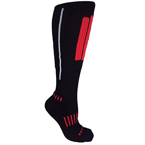 MOXY Socks THE Ultimate Grenade Black with Red Performance No-Show Socks