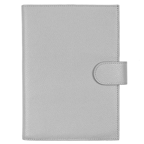 Pebble-Cream with Back Pocket Moterm Leather Cover for Stalogy B6 Pen Loop and Card Slots