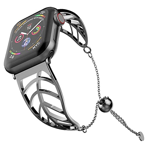 7f7aab4c18e9c UooMoo Women Bracelet Compatible Apple Watch Band 38mm/40mm/42mm/44mm,  Ladies Girls Stainless Steel Metal Strap Jewelry Wristband Bangle Chain ...