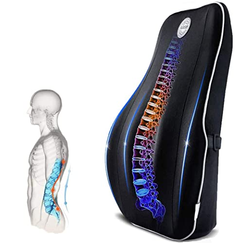 Car Seat Adjustable Back Pain Relief Backrest etc Breathable Mesh Cover KXT Lumbar Pillow One Size Fits All Lower Back Pain Relief Device for Office Chair Recliner