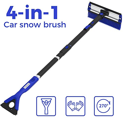 AUDI Genuine Accessories 8R0096010B Telescoping Snowbrush with Angling Head