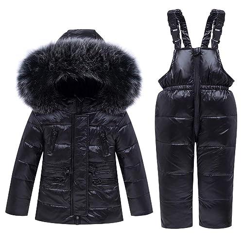 iZHH Kids Boys Girl Winter Coats Jacket Children Zip Snow Hoodie Blouse Tops