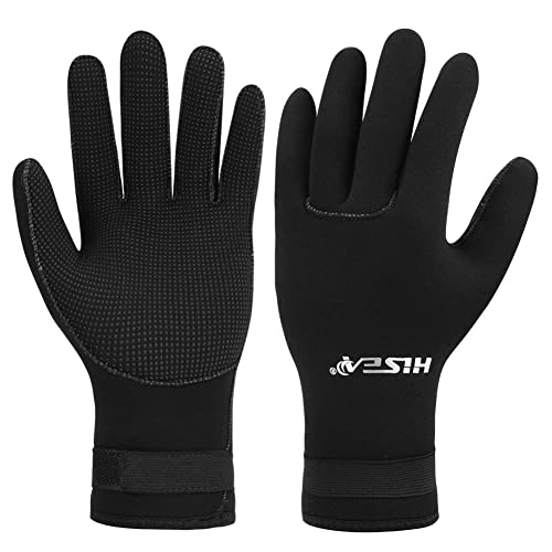 Micosuza 3mm Premium Neoprene Five Finger Wetsuit Gloves Anti Slip Wear-Resistant for Diving Snorkeling Swimming Surfing Fishing Kayaking