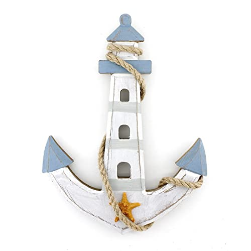 Buy 10 X7 6 Wooden Nautical Lighthouse Anchor Wall Hanging Ornament Plaque Online In Maldives B01hmchhtu