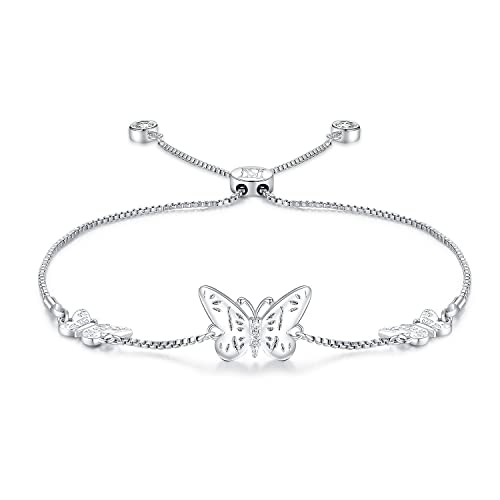 Link-A Link Jewelry with 14k Platinum Gold Plated,Swarovski Elements Crystal Gift Box Packing MINI LIFE S925 Sterling Silver Bolo Bracelet
