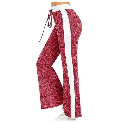 Smileyth Womens Elastic Waist Sweatpants Tie Dye Leopard Print Drawstring Yoga Running Trousers Activewear Jogger Pockets Pants