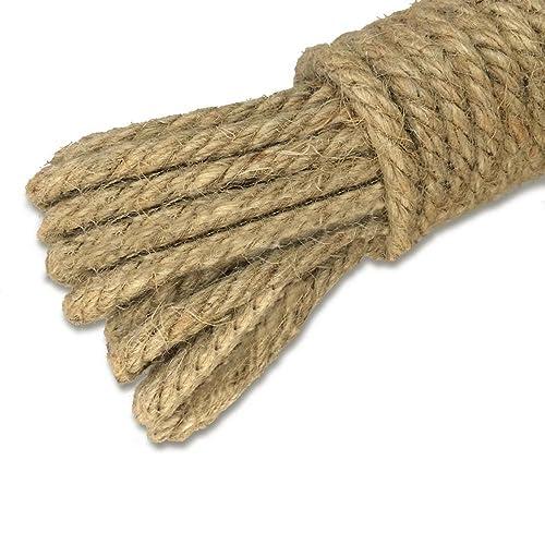 Twisted Manila Rope Jute Rope 164 Feet Natural Jute Twine Hemp Rope 1 Inch Diameter Twine Burlap Rope