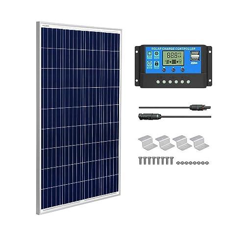Motorhome Off-grid Sunpower System Brillihood 100W Flexible Solar Panel 12V Monocrystalline Cells for RV Boat Camp