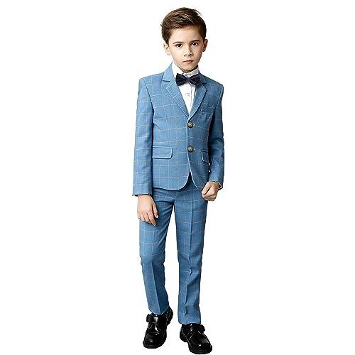 d40adb721e064 Buy YuanLu Boys Suits 5 Piece Set Slim Fit Royal Blue Boy Suit with ...