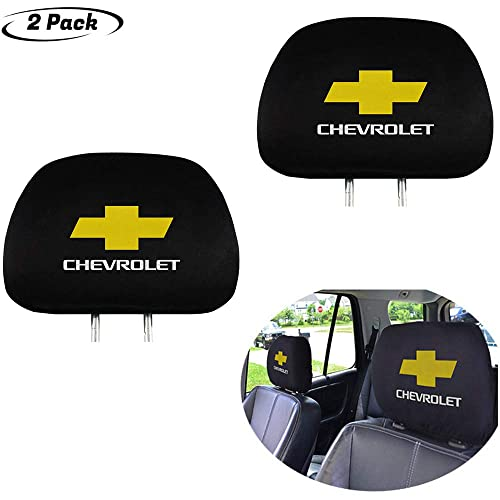 License plate frameX 2Pcs Black Comfortable Headrest Cover for Chevrolet,Easy to disassemble and wash,Can be Extended and Applied Universal All car Models,Have Storage Function