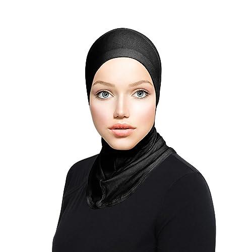 LMVERNA Under Scarf Hijab Tube Cap with Brim Bonnet Hijab Bone Chemo Hat Inner Hats