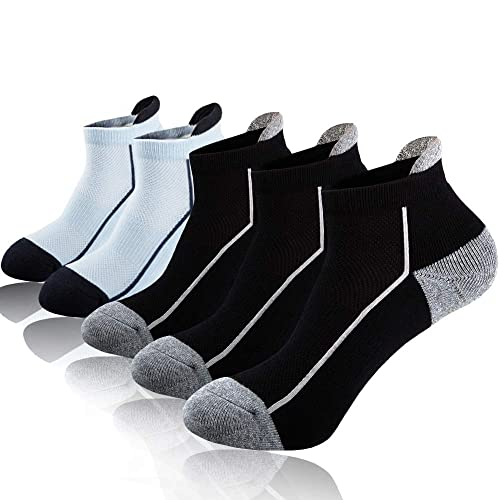 Heatuff Mens Athletic Ankle Performance Breathable Cushion Sport//Workout//Running Low Cut Socks 6 Pair