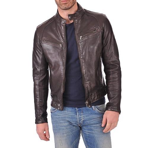 Men/'s Leather Jacket Empirical Selection Leather Jackets Men