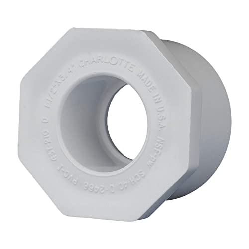 and High Tensile for Home or Industrial Use Easy to Install Charlotte Pipe 4 X 4 Adapter Coupling Pipe Fitting Sewer and Drain Schedule 40 PVC DWV Drain, Waste and Vent Durable 10 Unit Box