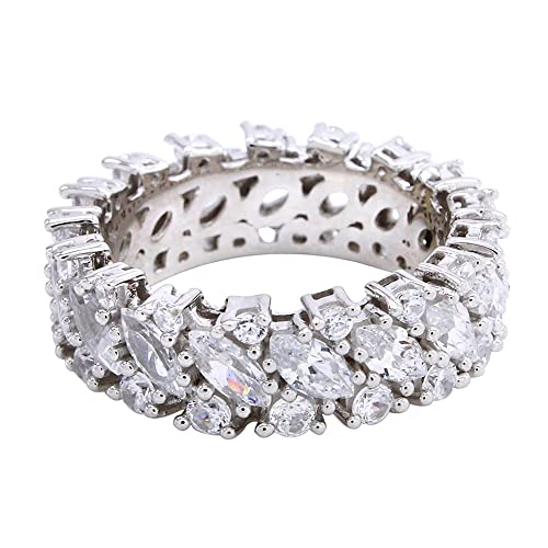 Wishrocks Round Cut White Cubic Zirconia Open Ring in 14K Yellow Gold Over Sterling Silver