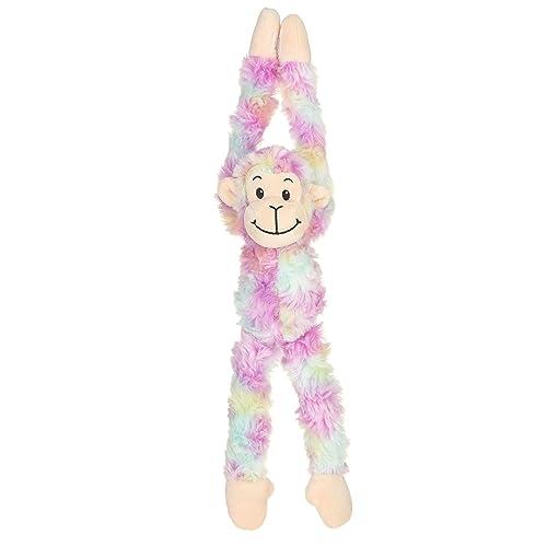 GW 23 Smiling Swirly Hanging Monkey Purple