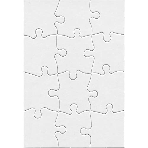 9 Pieces Compoz-A-Puzzle 8 Puzzles with Envelopes 4 x 5.5 Inch Hygloss Products Blank Jigsaw Puzzle