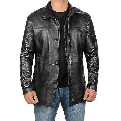 Zafy Leather Mens Lambskin Leather Jacket XX-Large Black