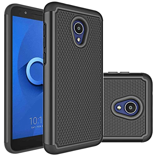 Alcatel TCL LX (A502DL) Case, Alcatel IdealXtra Case, Alcatel 1X Evolve  Case Huness Durable Armor and Resilient Shock Absorption Case Cover for