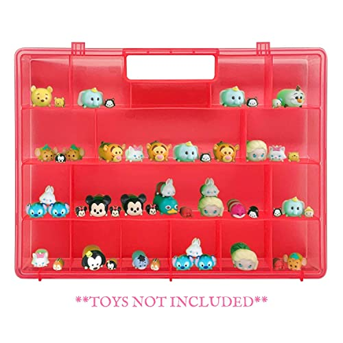 Life Made Better The New and Improved Stronger Carrying Case and Toy Storage Box in Red Compatible with Funko Racers Created by LMB
