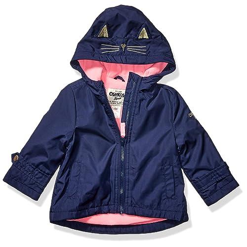 Osh Kosh Baby Girls Midweight Jacket with Fleece Lining Hearts On Lilac 18Mo