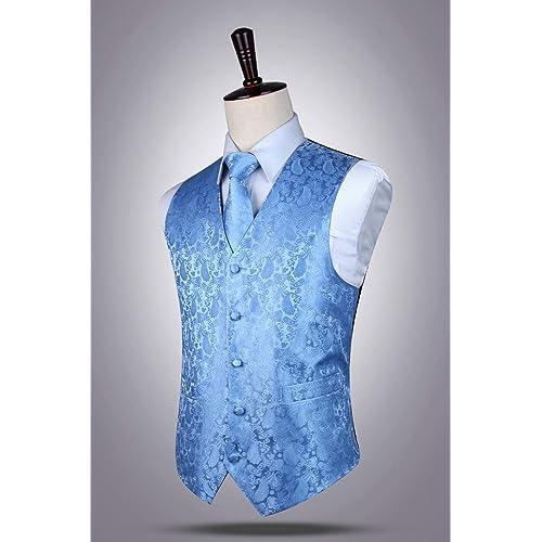 08a89fe623b98 ... Necktie and Pocket Square Vest Suit Set. PrevNext. PrevNext. HISDERN  3pc Men's Paisley Floral Jacquard Waistcoat ...