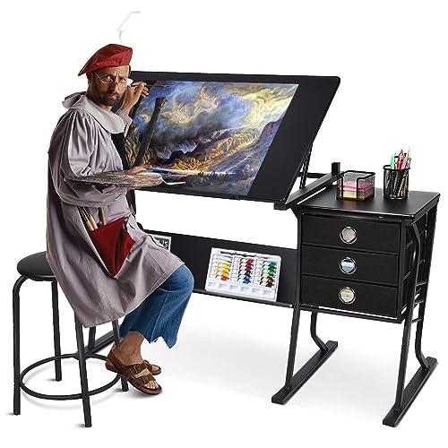 Super Buy Tangkula Drafting Desk Drawing Table Adjustable With Creativecarmelina Interior Chair Design Creativecarmelinacom